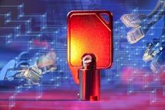 Netwerk Zeer belangrijke Veiligheid Stock Foto's