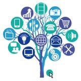 Netwerkboom Stock Afbeelding