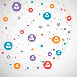 Netwerkconcept/Sociale media Stock Foto