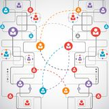 Netwerkconcept/Sociale media Stock Foto's