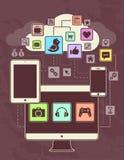Netwerken Royalty-vrije Stock Afbeeldingen