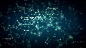 Netwerken en Gegevens het Blauwe Volgen royalty-vrije illustratie