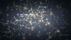 Netwerken en Gegevens het Zilveren Volgen vector illustratie