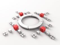 Netwerken rond hub Stock Fotografie