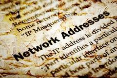 Netwerkip adres royalty-vrije stock fotografie
