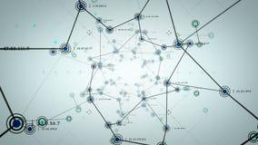 Netwerkknopen Blauwe Lite stock illustratie