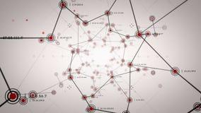 Netwerkknopen Rode Lite vector illustratie