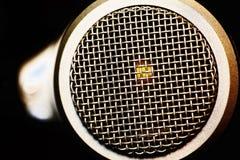 Netwerkoppervlakte van microfoon stock afbeelding