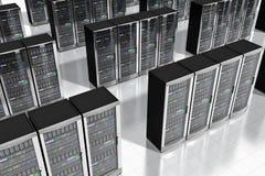 Netwerkservers in datacenter stock illustratie