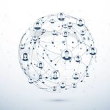 Netwerkstructuur Sociaal media concept Vector illustratie Royalty-vrije Stock Foto