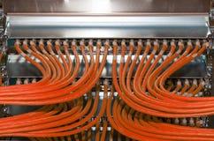 Netwerkverdeler in een gegevenscentrum voor de wolkendiensten Royalty-vrije Stock Foto