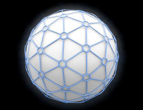 Network. Sphere surrounded with some net Royalty Free Stock Photo