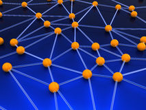 Network. Abstract 3d illustration of network structure concept Royalty Free Stock Photo