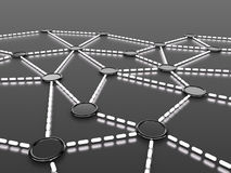 Network. 3d rendered image: Network concept Royalty Free Stock Images