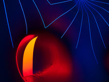 Network. Illumination effect from interior of inflammable tent Royalty Free Stock Image