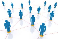 Network. Social  Network. 3d rendered image Royalty Free Stock Photography