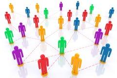 Network. Social network. 3d rendered illustration Stock Images
