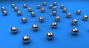 Network. Topology of a typical network structure Royalty Free Stock Images