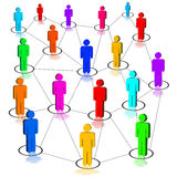 Network. Illustration of a social network stock illustration
