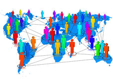 Network. Illustration of a social network royalty free illustration