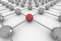 Network 3D Royalty Free Stock Images