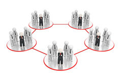 Network - 3d business teams network Royalty Free Stock Photo