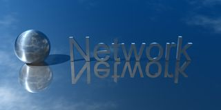 Network. 3d Presentation Business, Logo and Symbol Royalty Free Stock Images