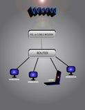Network. Diagram, illustration Stock Images