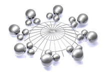 Network Abstract - 3D Royalty Free Stock Image