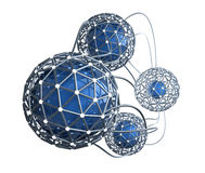 Network abstract 3D concept. Over white stock illustration