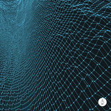 Network abstract background. 3d technology vector. Illustration. Can be used for banner, flyer, book cover, poster, web banners Royalty Free Stock Photos