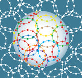 Network, abstract illustration Royalty Free Stock Images