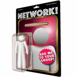 Network Action Figure Connect with People. 3d Illustration Royalty Free Stock Photos