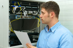Network administrator. Royalty Free Stock Photography
