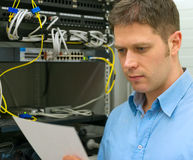 Network administrator. Stock Image