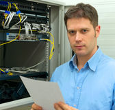 Network administrator. Stock Photography