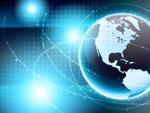 Network america. Optical network earth.world america Stock Photos