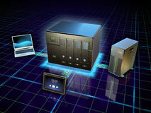 Network attached storage Stock Image