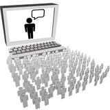 Network audience people watch computer monitor Royalty Free Stock Images