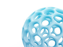 Network ball. Part of hollow network ball isolated on white background Stock Photo