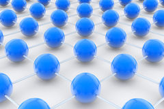 Network with balls Stock Photography