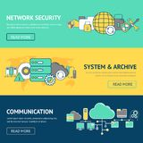 Network Banners Set Stock Images