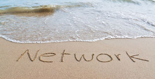 Network on the beach Stock Image