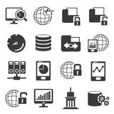 Network and big data icons Stock Photos
