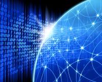 Network blue background vector illustration