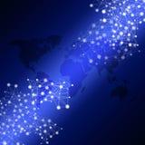 Network Blue Biz Background Stock Image
