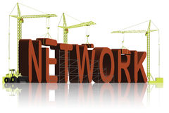 Network building networking business social net stock illustration