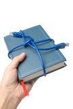 Network cable and book Royalty Free Stock Image