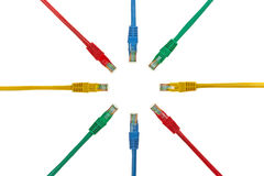 Network cable - circle Stock Photos