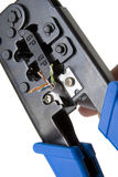 Network cable crimper 4 Stock Images